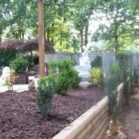 Photo Thumbnail #4: Here is the retainer wall planted and a...