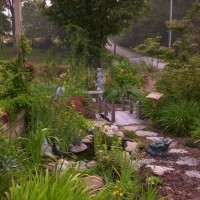 Photo Thumbnail #1: Entrance to side yard memory garden.