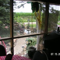 Photo Thumbnail #1: Inside view from the screened porch area......