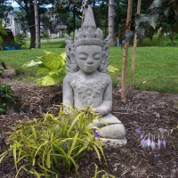 Photo Thumbnail #24: Buddha overlooks the pond and Sweet Kate.  Sum...