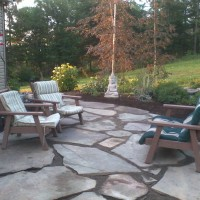Photo Thumbnail #19: After photo of flagstone patio.