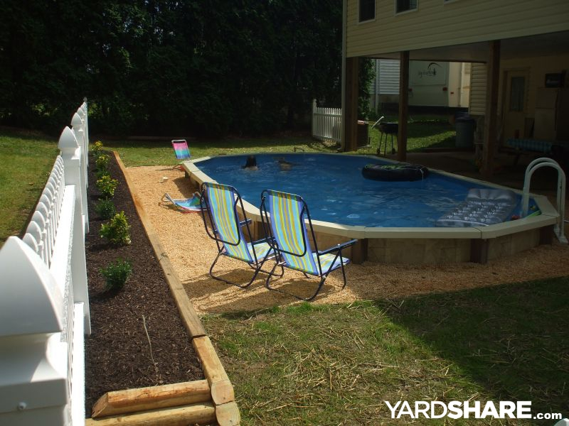Semi Inground Pool Ideas we sell high quality semi inground pools in suffolk and nassau counties long island which are designed to go semi inground and have a lifetime warranty in 2 Of 3 The Pool Is Not Completebut Really Close To It In This Photomuch Landscaping To Do