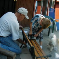 Photo Thumbnail #1: July 20, 2009.  When our grandchildren are with...