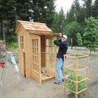 Photo Thumbnail #14: 7-18-2010  Von built this garden shed in...