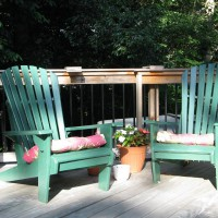 Photo Thumbnail #1: My dad made these adirondack chairs, so they...