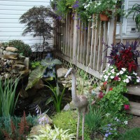 Photo Thumbnail #6: small pond with fish and waterall feature on...