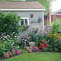 Photo Thumbnail #4: flower bed in front of garden shed