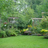 Photo Thumbnail #9: very back of yard, a few wooden structures...
