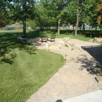 Photo Thumbnail #2: Patio with Techo-Bloc Flagstone pavers,...