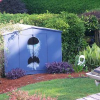 Photo Thumbnail #3: Shed - painted to look like a large bird house.
