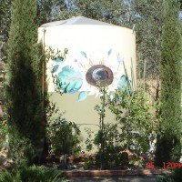 Photo Thumbnail #1: sunflower area... metal art , water tank