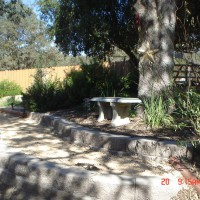 Photo Thumbnail #5: my star area.. cement brick mirrors the metal...