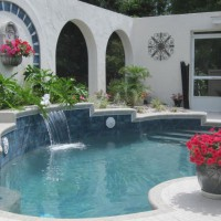 Photo Thumbnail #1: I designed and created our courtyard pool area...