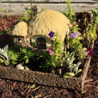 Photo Thumbnail #6: This little fairy cottage planter was a...