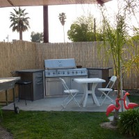 Photo Thumbnail #2: this is our bbq area with a portable sink that...