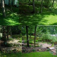 Photo Thumbnail #24: View of shade garden before and after