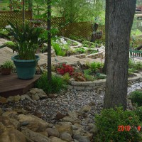 Photo Thumbnail #17: View of creek and shade garden from the deck