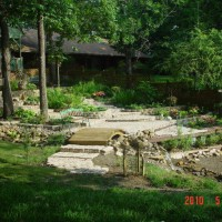 Photo Thumbnail #8: Middle falls of water feature and shade garden