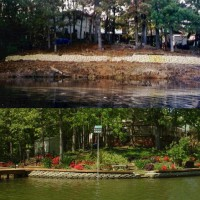 Photo Thumbnail #26: Shoreline before and after