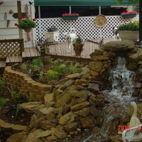 Photo Thumbnail #7: Upper bed and start of water feature