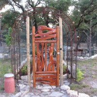 Photo Thumbnail #3: This gate leads into the shade garden. Built of...