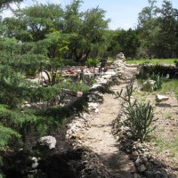 Photo Thumbnail #19: I built this dry creek bed to keep heavy rains...
