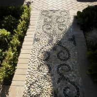 Photo Thumbnail #2: Pebble mosaic pavement of beach pebbles.