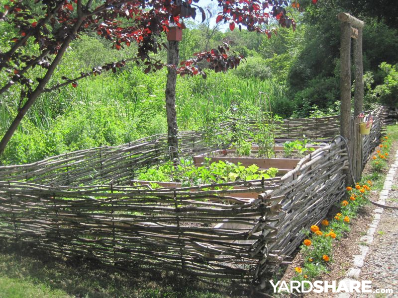 Large Vegetable Garden Fence