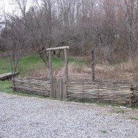 Photo Thumbnail #6: 4 - 3'x6' raised beds enclosed by wattle fence...