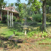 Photo Thumbnail #5: Southern water feature (sprinkler in bird bath!)