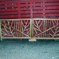 Photo Thumbnail #4: 2-3-2011  The new gate is FINISHED!  When the...
