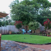 Photo Thumbnail #1: Flagstone patio overlooking the yard.