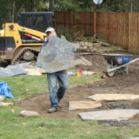 Photo Thumbnail #5: laying the flagstone