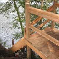 Photo Thumbnail #14: stairs to river almost completed