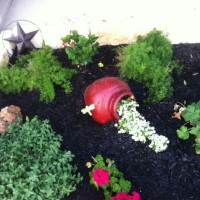 Photo Thumbnail #6: I just love my urn with the Alyssum spilling...
