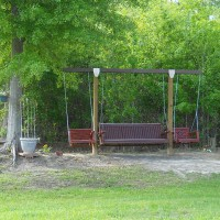 Photo Thumbnail #8: Swings facing side of shed