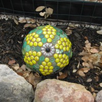 Photo Thumbnail #6: Bowling ball sunflower.
