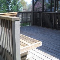 Photo Thumbnail #6: BEFORE: The back deck.  Needs some color....