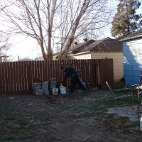 Photo Thumbnail #7: This is the west side of the yard that will...
