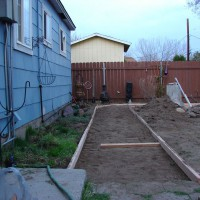 Photo Thumbnail #6: Borders up for the pea gravel walkway through...