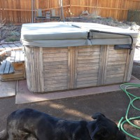 Photo Thumbnail #7: Enjoy hot tub. Except the staining of the...