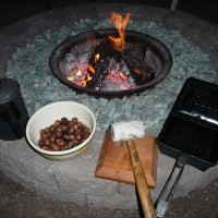Photo Thumbnail #10: Campfire coffee and roasted filberts. It does...