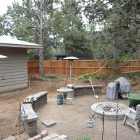 Photo Thumbnail #9: Second wall added outside firepit to further...