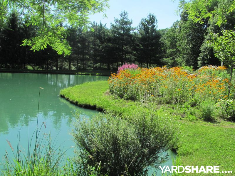 Landscaping ideas garden by pond for Half acre backyard landscaping ideas