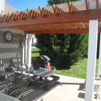 Photo Thumbnail #10: Finished Pergola (including stain)