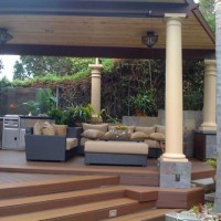 Photo Thumbnail #4: Outdoor kitchen and garden.