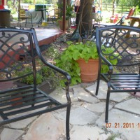 Photo Thumbnail #3: flagstone sitting area