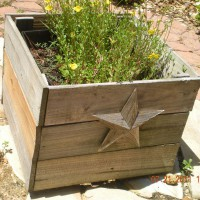 Photo Thumbnail #4: planter boxes with lonestar theme