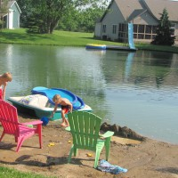 Photo Thumbnail #3: pond 2011....this photo daughters home across...