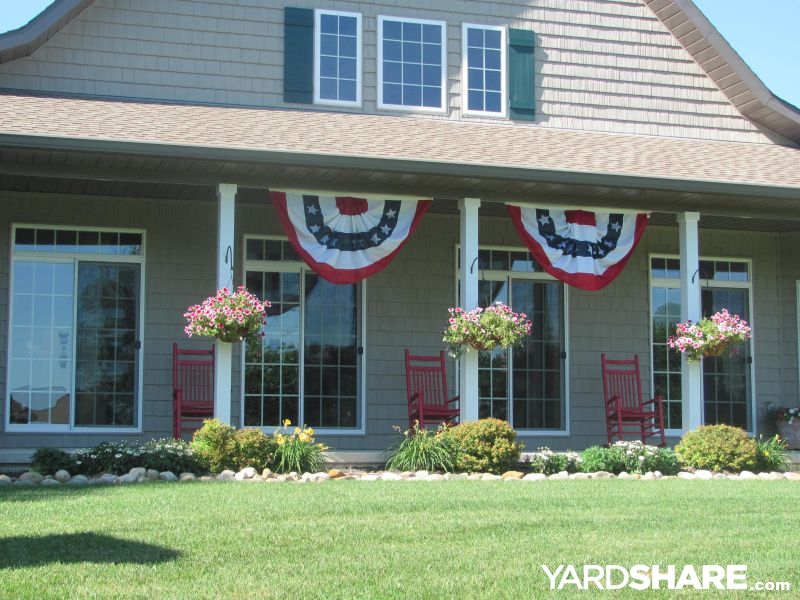 Landscaping Ideas Long front porch on cottage YardSharecom